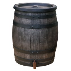 Synthetic wood look rain barrel 13,2 gallons