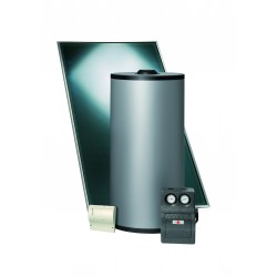 Zonneboilerset 2 collectoren / 200 liter RVS boiler