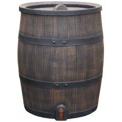 Synthetic wood look rain barrel 31,7 gallons