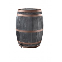 Wood look black oak rain barrel 50 gallons